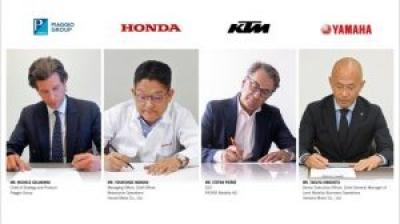 ピアッジオグループ、ホンダ、KTM、ヤマハの4社間で二輪車および小型電気自動車用交換式バッテリーコンソーシアム合意書を締結