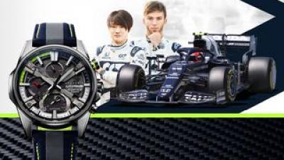 エディフィスからF1チームとコラボした腕時計が登場! モータースポーツの世界観を表現したデザインに注目