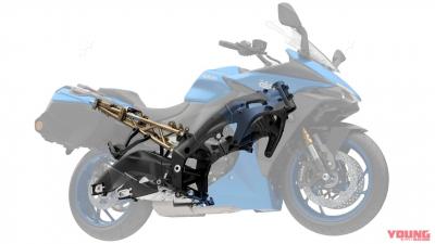 【スズキ新型 GSX-S1000GT】基本骨格は踏襲し、振動対策やタンデム強化でタフな走りを実現